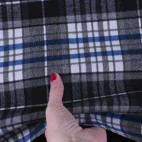 Ткань на отрез кашемир К-4 Клетка цвет синий фото