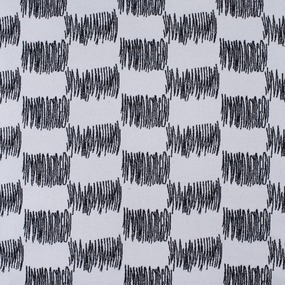 Ткань на отрез кашемир Ш-1 Штрих цвет черно-белый фото