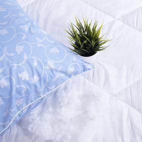 Наперник для подушек Тик кант молния Вензель цвет голубой 50/70 фото