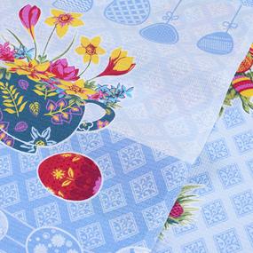 Набор вафельных полотенец 3 шт 45/60 см 3020-1 Пасхальное дерево цвет голубой фото