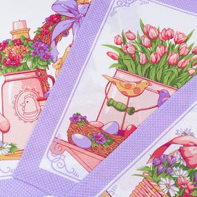Набор вафельных полотенец 3 шт 45/60 см 3021-3 Светлая пасха цвет сиреневый фото