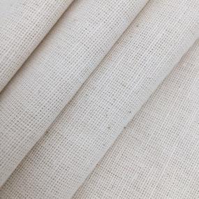 Ткань на отрез полулен 220 см полувареный цвет серый фото
