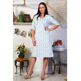 Сорочка женская Нежность футер размер 46 фото