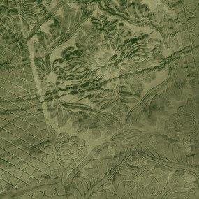Покрывало бубон с рисунком 200/220 цвет зеленый фото