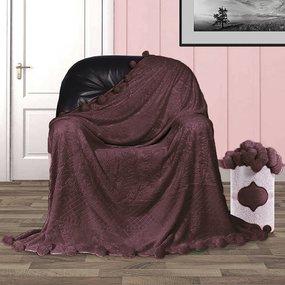 Покрывало бубон с рисунком 200/220 цвет шоколад фото