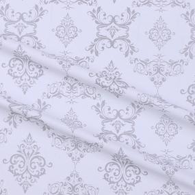 Ткань на отрез бязь плательная б/з 150 см 8105/39 Дамаск цвет серый фото