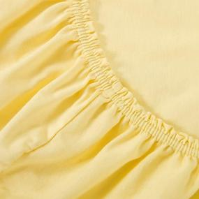 Простыня трикотажная на резинке Премиум цвет желтый 60/120/12 см фото