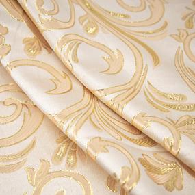 Портьерная ткань с люрексом 150 см на отрез 5222 Вензель цвет персик фото