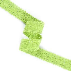 Кружево лен 200018 Ярк зеленый 1,5см 1метр фото