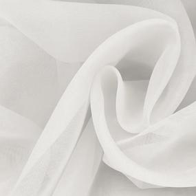 Ткань на отрез Вуаль 280 см цвет 15 молочный фото