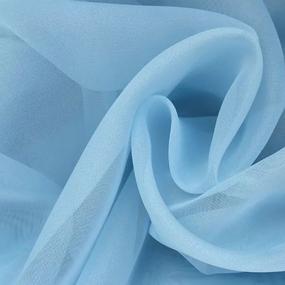 Ткань на отрез Вуаль 280 см цвет 17 голубой фото