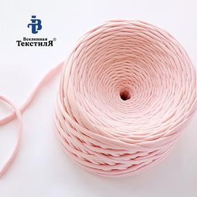 Трикотажная пряжа цвет розовое облако фото