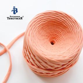 Трикотажная пряжа цвет лососевый фото