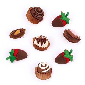 Набор декоративных элементов JESSE JAMES 6544 Шоколадные сладости 1 упак фото