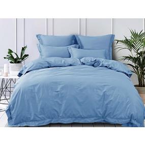 Ткань на отрез сатин гладкокрашеный 220 см 15-4020 цвет голубой фото
