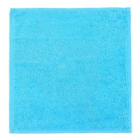 Салфетка махровая цвет 720 бирюзовый 30/30 см фото
