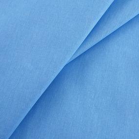 Ткань на отрез бязь гладкокрашеная 120 гр/м2 150 см цвет голубой фото
