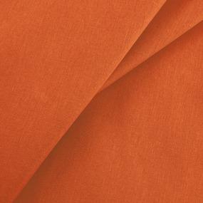 Ткань на отрез бязь гладкокрашеная 120 гр/м2 150 см цвет оранжевый фото