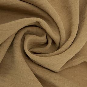 Ткань на отрез манго креп 154 см цвет горчичный фото