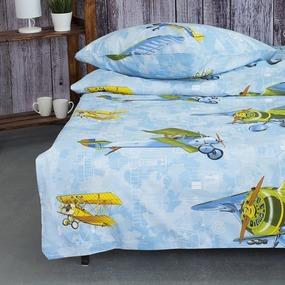 Детское постельное белье из поплина 1.5 сп 11519/1 Авиаторы фото