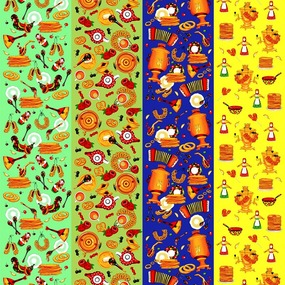 Вафельное полотно набивное 150 см 1225/1 Масленица фото