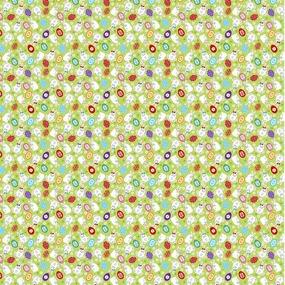 Вафельное полотно набивное 150 см 1263/1 Пасхальный кролик на зеленом фоне фото