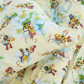 Детское постельное белье из поплина 1.5 сп 10431/1 Пчелка фото