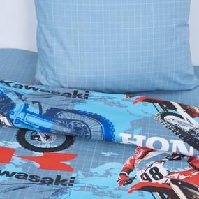 Детское постельное белье из поплина 1.5 сп 10443/1 Мотокросс фото