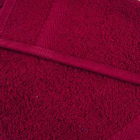 Салфетка махровая Sunvim 17В-5 30/30 см цвет бордовый фото