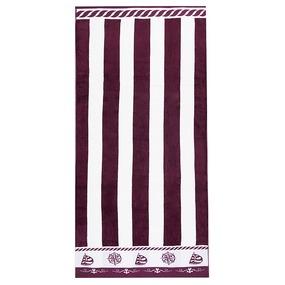 Полотенце махровое Sunvim 12В-16 65/135 см цвет бордовый фото