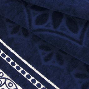 Полотенце велюровое Европа 50/90 см цвет синий фото