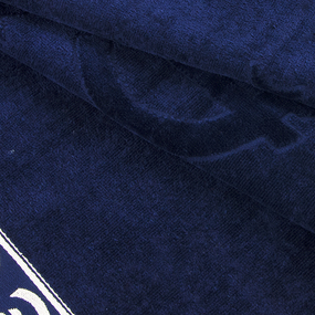 Полотенце велюровое Европа 50/90 см цвет синий с евро фото