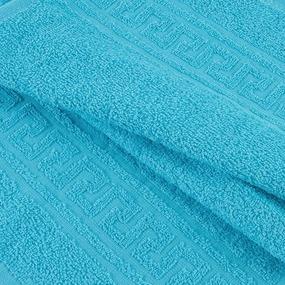 Полотенце махровое 30/50 см цвет 504 сине-зеленый фото