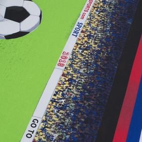 Простыня на резинке бязь 641-2 Футбол 90/200/20 см фото