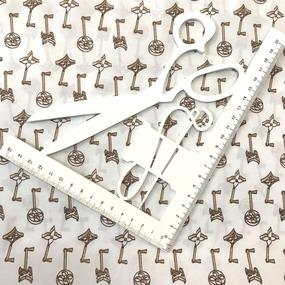 Рубашечная ткань на отрез Элиф 21-10 Ключики фото