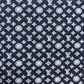 Рубашечная ткань на отрез Элиф LV-1 о/м на синем фоне фото