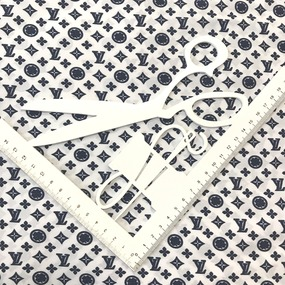 Рубашечная ткань на отрез Элиф LV-2 б/з цвет синий фото