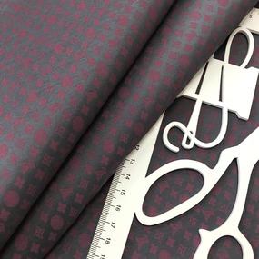 Рубашечная ткань на отрез Элиф LV-3 о/м на сером фоне фото