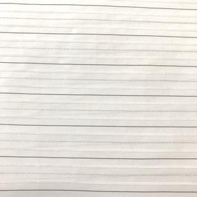 Рубашечная ткань на отрез с люрексом 22-10 Полоса цвет белый фото