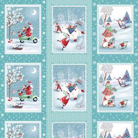 Маломеры вафельное полотно набивное 150 см 35047/3 Санта Клаус 3 купона фото