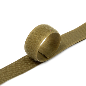 Лента-липучка 25 мм 1 м цвет F297 (287) кор-серый фото