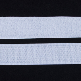 Лента-липучка 25 мм 1 м цвет белый фото