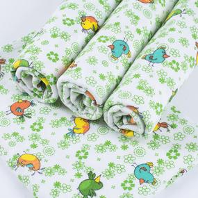 Набор детских пеленок фланель 4 шт 75/120 см 644-2П фото
