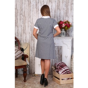 Платье Диана короткий рукав гус. лапка Д440 р 42 фото