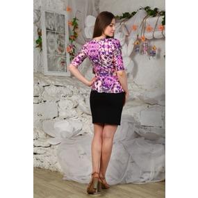 Платье Ирэн розовая сакура Д426 р 44 фото