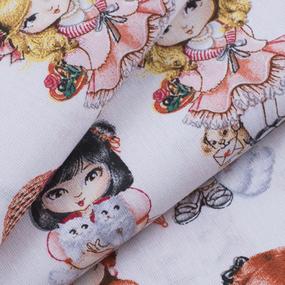 Ткань на отрез бязь премиум ГОСТ детская 150 см 13171/1 Куклы фото