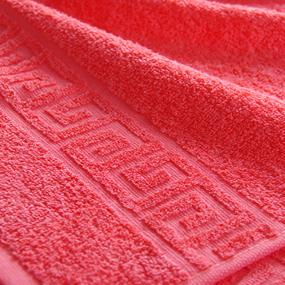 Полотенце махровое Туркменистан 100/180 см цвет кораллово-розовый фото