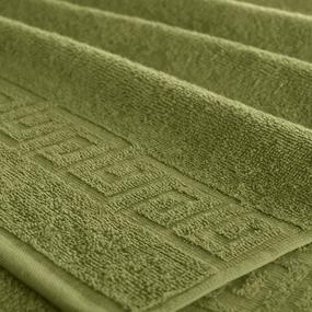 Полотенце махровое Туркменистан 40/70 см цвет оливковый фото