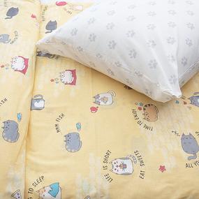 Детское постельное белье из бязи 1.5 сп 3033-3 Котики цвет желтый фото