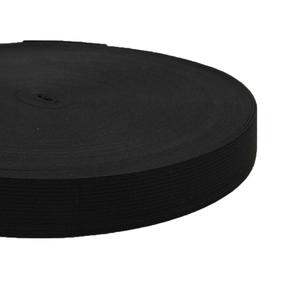Резинка вязаная 35мм 40м черная фото
